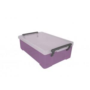 Boite de rangement plastique 1.8 L violette