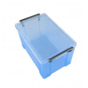 Boite de rangement plastique 3.7 L bleue