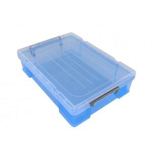 Boite de rangement plastique 5.9 L bleue