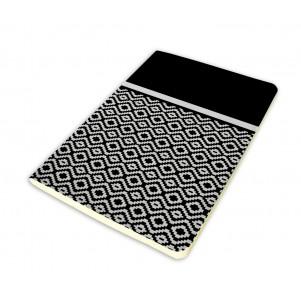 Carnet 11x15cm couverture souple Noir et Blanc