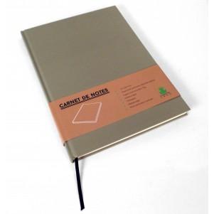 Carnet de notes Color grand modèle taupe