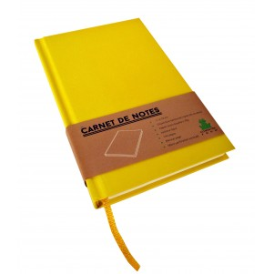 Carnet de notes Color petit modèle jaune