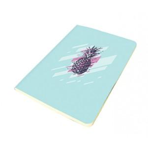 Carnet 11x15cm couverture souple Ananas