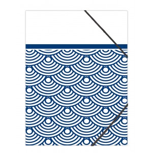 Pochette rabat simple Japanese waves