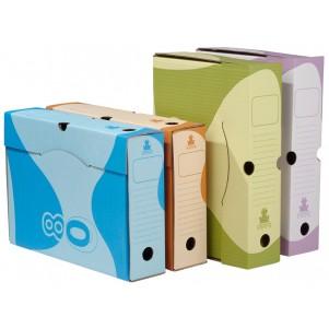 Lot de 4 boites à archives couleur