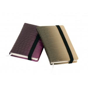Carnet de notes Croco violet 6,5x10,5cm