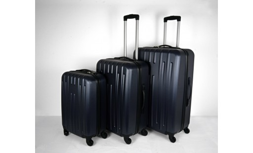 """Lot de 3 valises ABS 50/60/70cm """"Espace"""" bleu"""