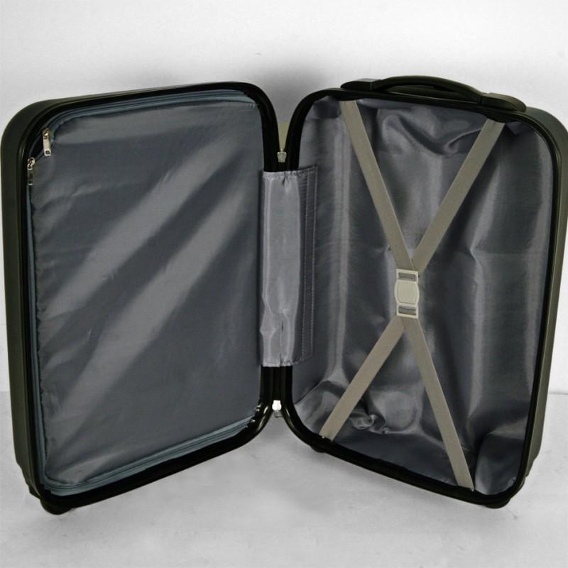 lot de 3 valises abs 50 60 70cm espace bleu clementinafrog. Black Bedroom Furniture Sets. Home Design Ideas