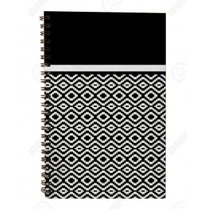 Carnet à spirales Noir et Blanc