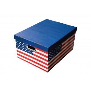 Lot 2 boites de rangement carton 40x31x21cm USA