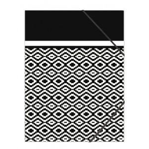 Pochette rabat simple Noir & Blanc