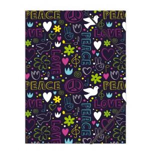 Pochette rabat simple Peace&Love