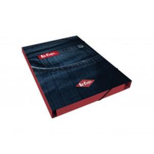 Pochette rabat Dos 25mm LEE COOPER Impression Jeans
