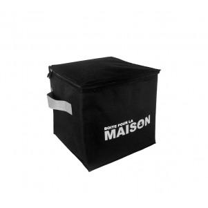 """Boite de rangement souple """"Cube"""" 31cm noire"""