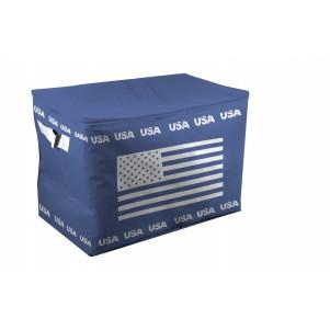 """Boite de rangement souple """"US"""" 55cm bleue"""