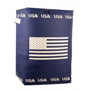 """Boite de rangement souple haute """"US"""" bleue"""