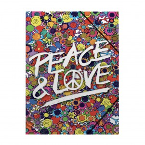 Pochette rabat simple Peace&Love