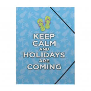 Pochette rabat simple Keep Calm